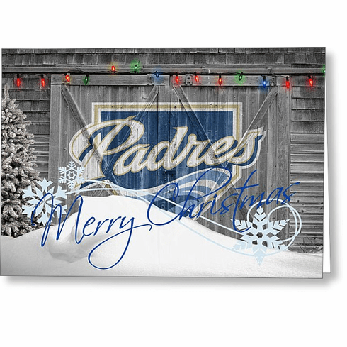 Personalized San Diego Padres Christmas and Holiday Cards<br>5 DESIGNS!