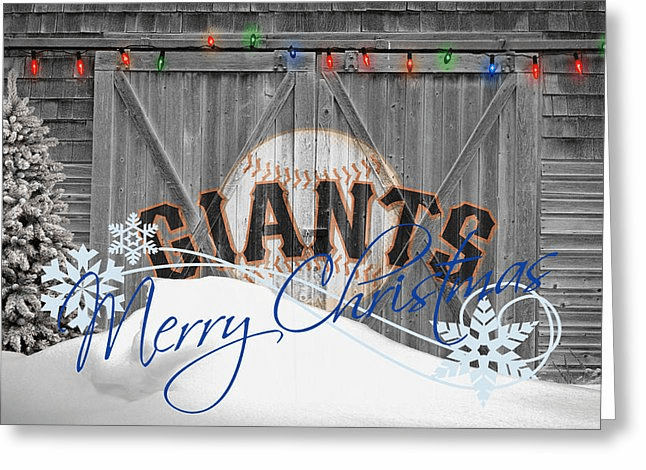 Personalized San Francisco Giants Christmas and Holiday Cards<br>5 DESIGNS!