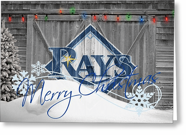 Personalized Tampa Bay Rays Christmas and Holiday Cards<br>5 DESIGNS!