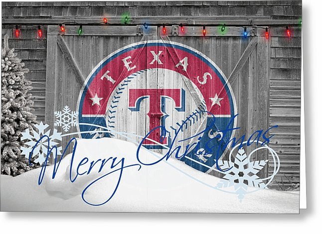 Personalized Texas Rangers Christmas and Holiday Cards<br>5 DESIGNS!