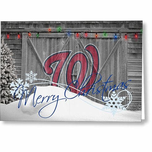Personalized Washington Nationals Christmas and Holiday Cards<br>5 DESIGNS!