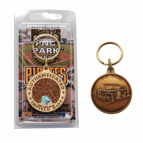 Pittsburgh Pirates PNC Park Bronze Infield Dirt Keychain<br>ONLY 2 LEFT!