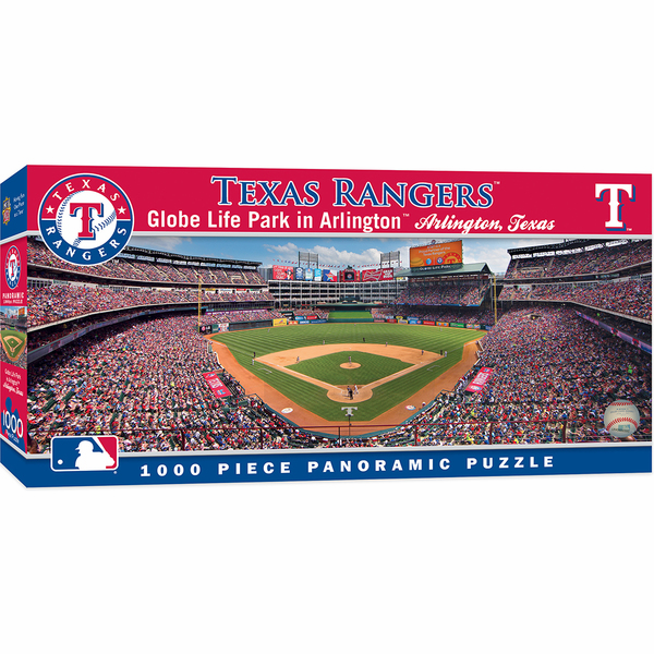 Rangers Ballpark in Arlington Texas Rangers 1000pc Panoramic Puzzle<br>ONLY 5 LEFT!