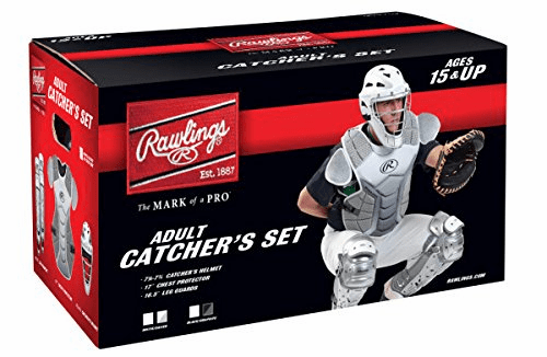 Rawlings Adult Baseball Catcher Set Velo Silver and White<br>LESS THAN 6 LEFT!