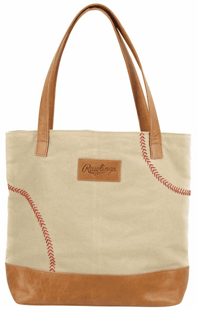 Rawlings Baseball Strike Zone Leather and Canvas Tote Bag