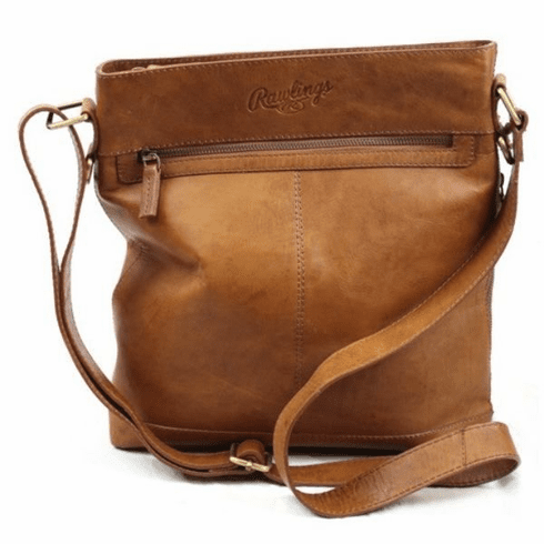 Rawlings Leather Baseball Crossbody Bag<br>TAN or BLACK