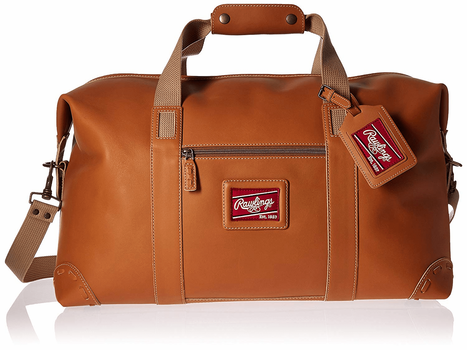 Rawlings Leather Duffel Bag - Premium Tan