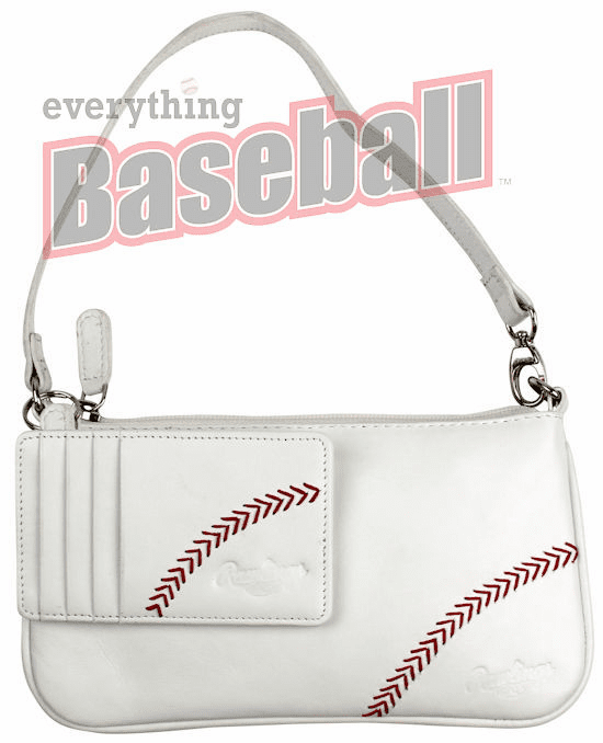 Rawlings White Baseball Stitch Wristlet with Card Case<br>ONLY 1 LEFT!