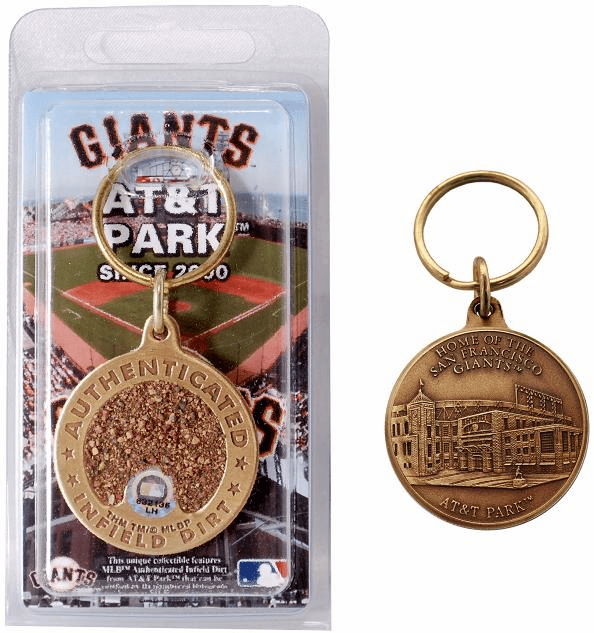 San Francisco Giants AT&T Park Bronze Infield Dirt Keychain<br>ONLY 2 LEFT!