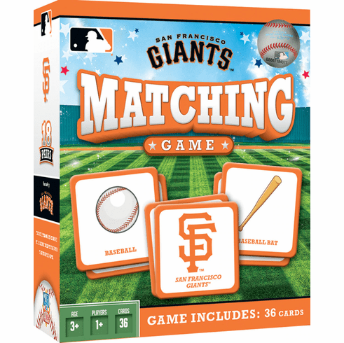 San Francisco Giants Baseball Matching Game<br>ONLY 3 LEFT!