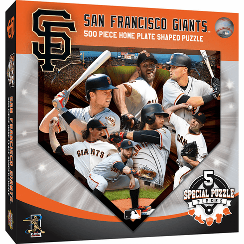 San Francisco Giants Players Home Plate Shaped 500 Piece Baseball Puzzle<br>LESS THAN 8 LEFT!