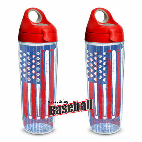 Set of Two 24oz Baseball Flag Water Bottles by Tervis