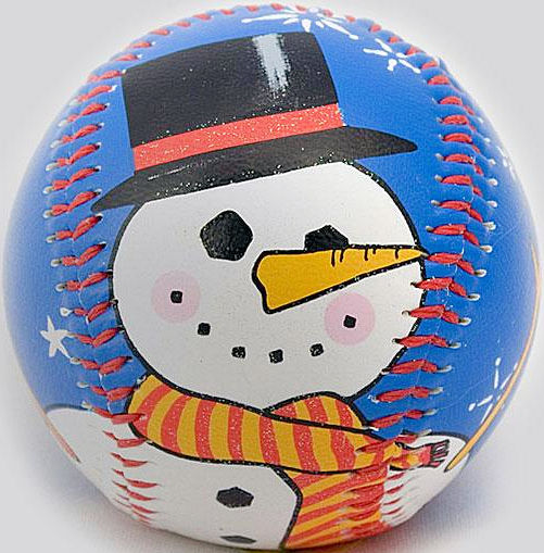 Snowman Holiday Baseball<br>ONLY 1 LEFT!
