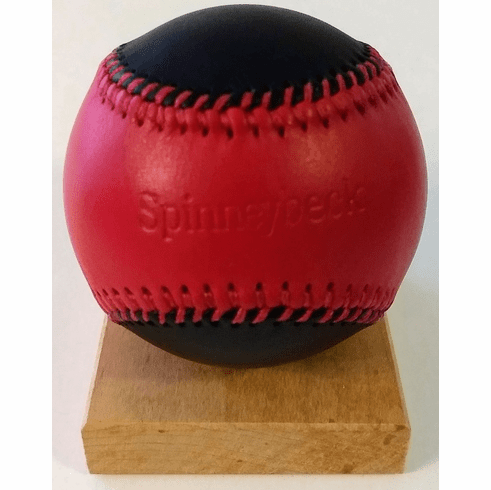 Spinneybeck Red and Black Leather Baseball<br>RETIRED DESIGN<br>ONLY 1 LEFT!