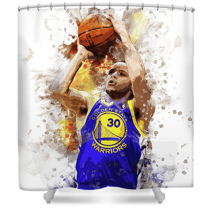 Stephen Curry Golden State Warriors Shower Curtain