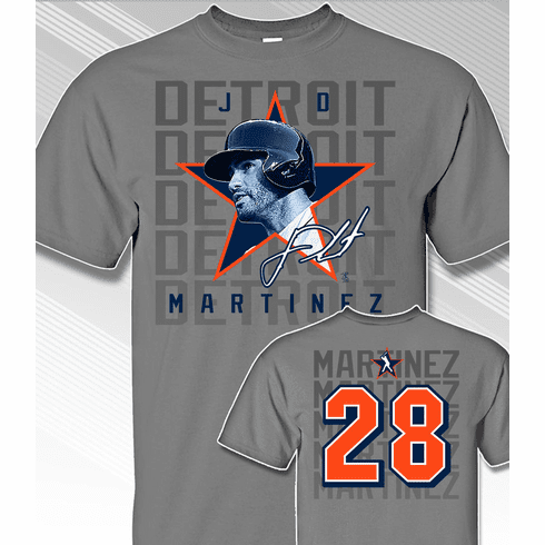 T-SHIRT SPECIAL<br>JD Martinez Star Power Detroit T-Shirt<br>ONLY 1 ADULT MED LEFT!