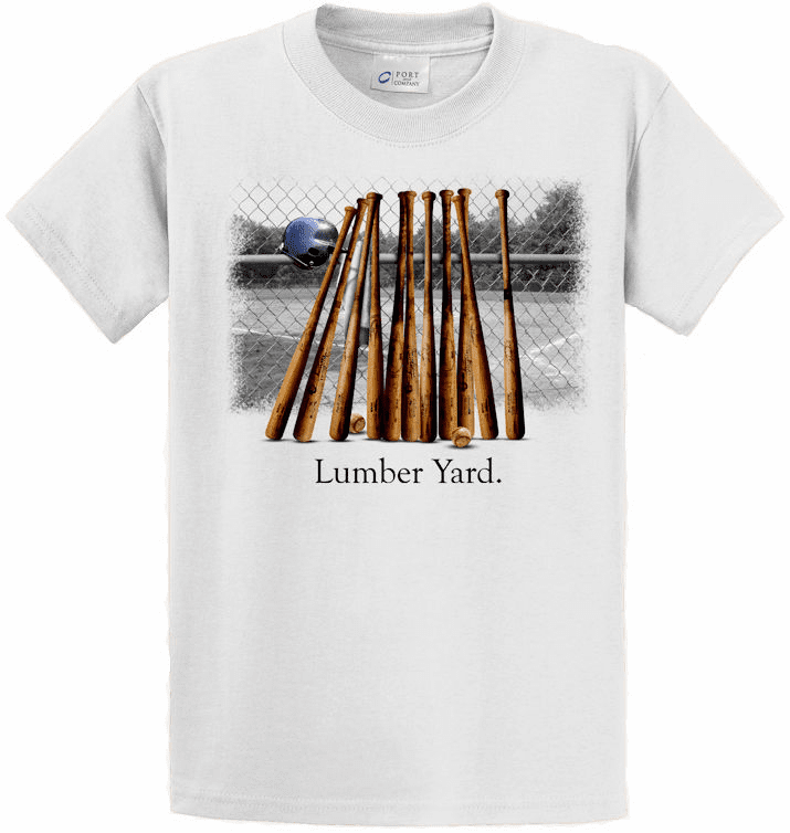 T-SHIRT SPECIAL<br>Lumber Yard Baseball T-Shirts<br>VERY LIMITED QUANTITIES!