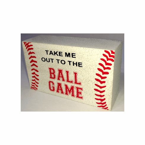Take Me Out To The Ball Game Baseball Mini Box Sign<br>ONLY 3 LEFT!