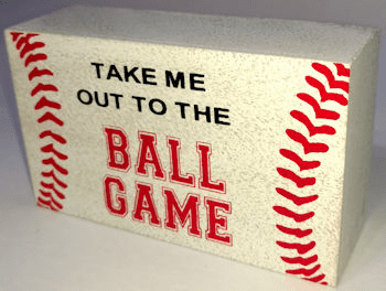 Take Me Out To The Ball Game Baseball Mini Box Sign<br>ONLY 2 LEFT!