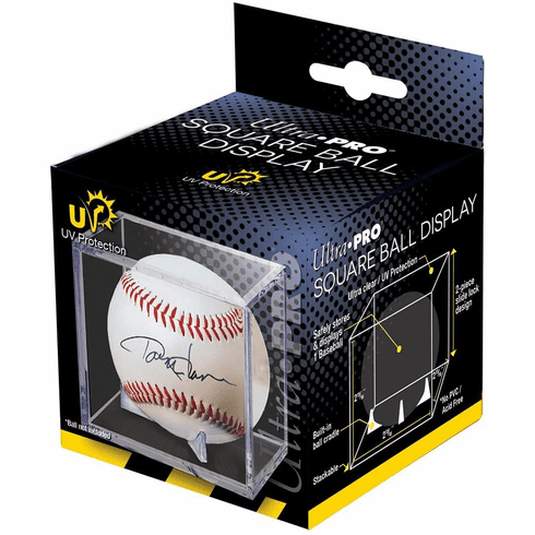 Ultra Pro UV Protected Baseball Holder Crystal Clear Square Ball Display Cube