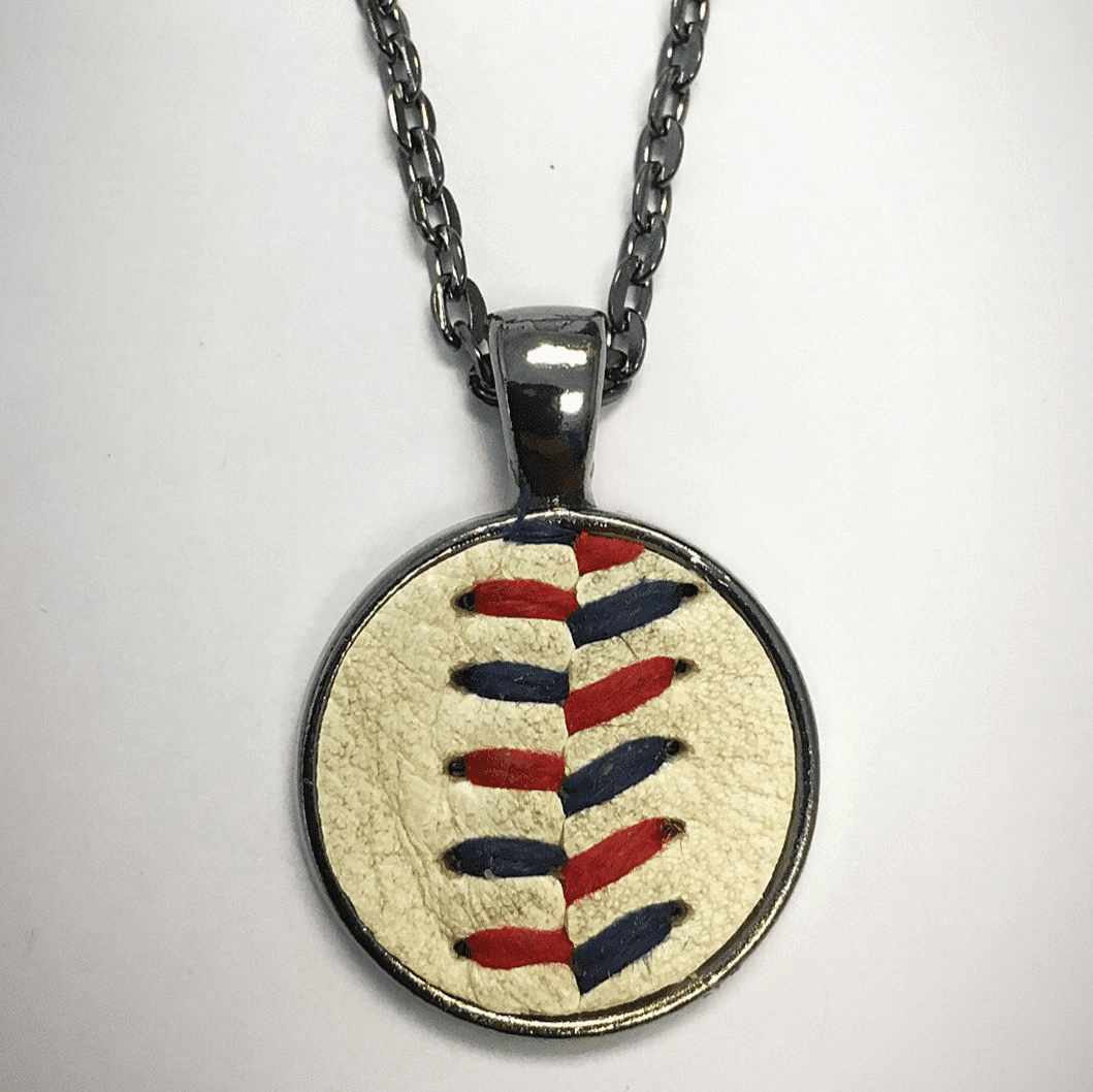 USA Colors Baseball Seam Pendant Necklace<br>ONLY 2 LEFT!