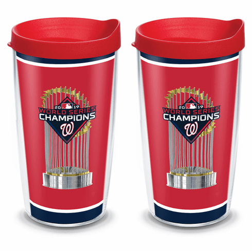 Washington Nationals 2019 World Series Champions Cups with Lids by Tervis<br>CHOOSE 16oz or 24oz!
