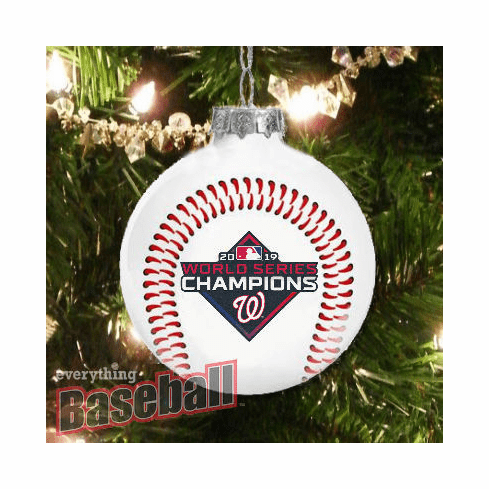 Washington Nationals 2019 World Series Champions Glass Ball Ornament<br>PRE-SOLD OUT!