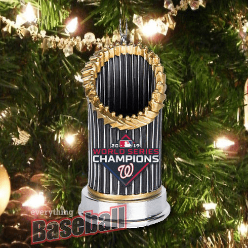 Washington Nationals 2019 World Series Champions Resin Trophy Ornament<br>PRE-SOLD OUT!