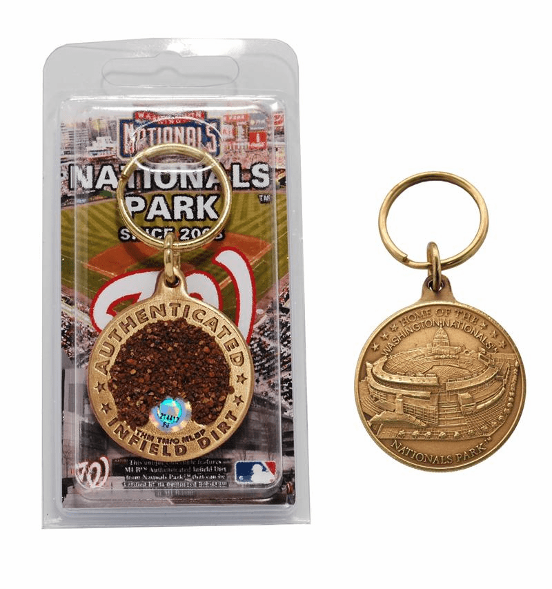Washington Nationals - Nationals Park Bronze Infield Dirt Keychain<br>ONLY 2 LEFT!