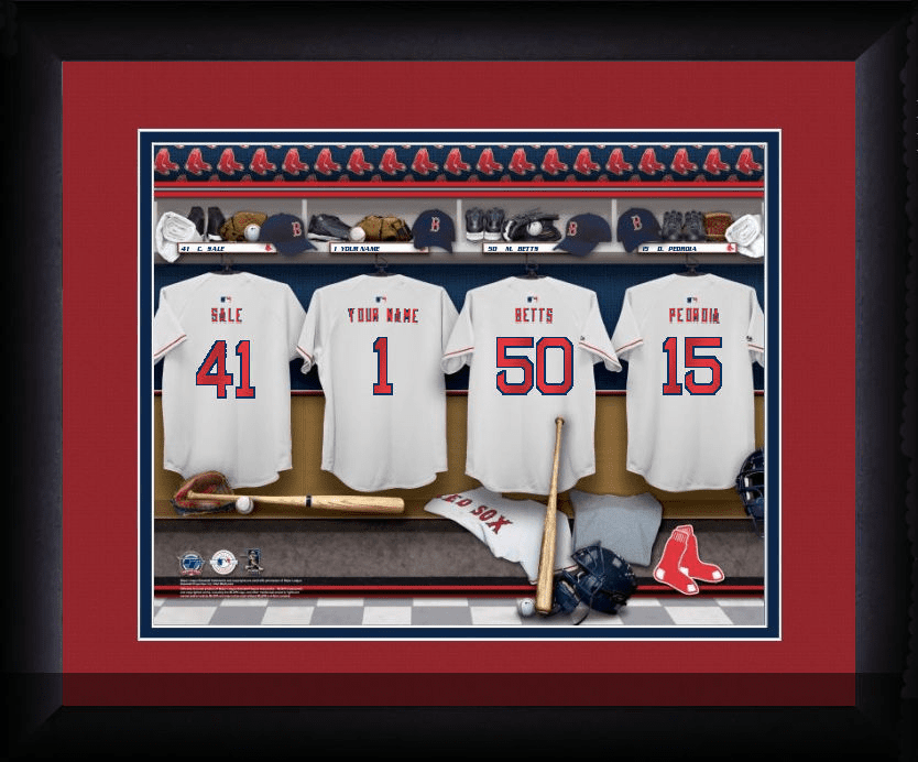 MLB Team Personalized Locker Room Framed Print