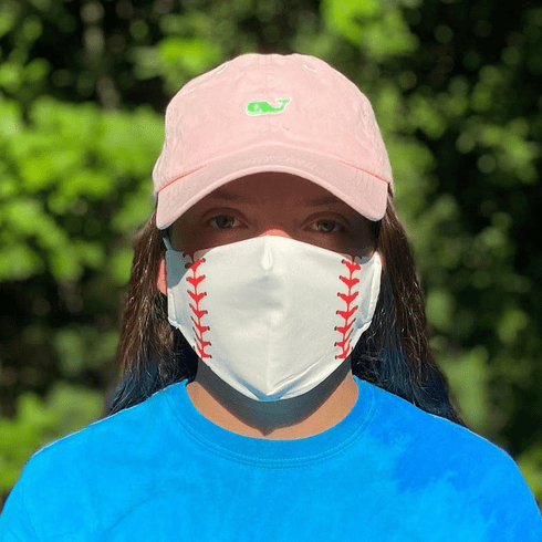 WEEKLY SPECIAL #4<br>White Baseball Face Mask