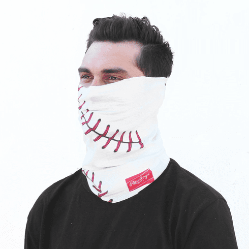 White Baseball Stitch Gaiter by Rawlings<br>ONLY 4 LEFT!
