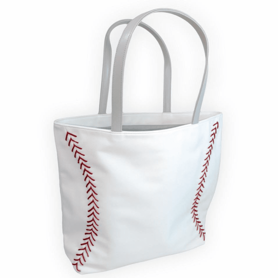 White Baseball Tote Bag