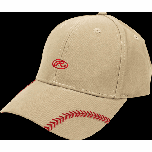 Women's Change Up Khaki Baseball Stitch Hat by Rawlings<br>ONLY 1 LEFT!
