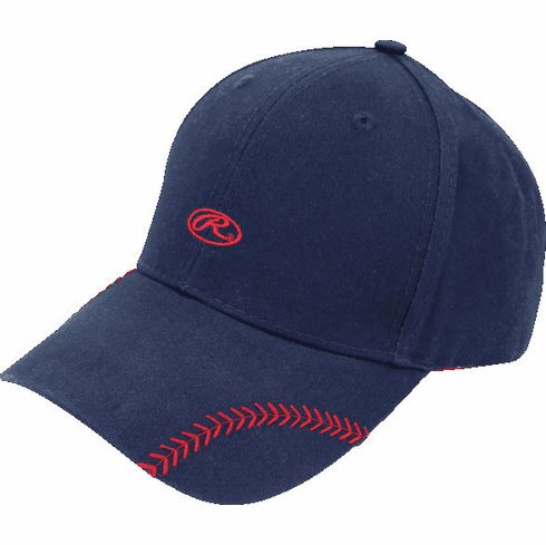 Women's Change Up Navy Blue Baseball Stitch Hat by Rawlings<br>ONLY 1 LEFT!