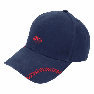 Women's Change Up Navy Blue Baseball Stitch Hat by Rawlings<br>ONLY 2 LEFT!