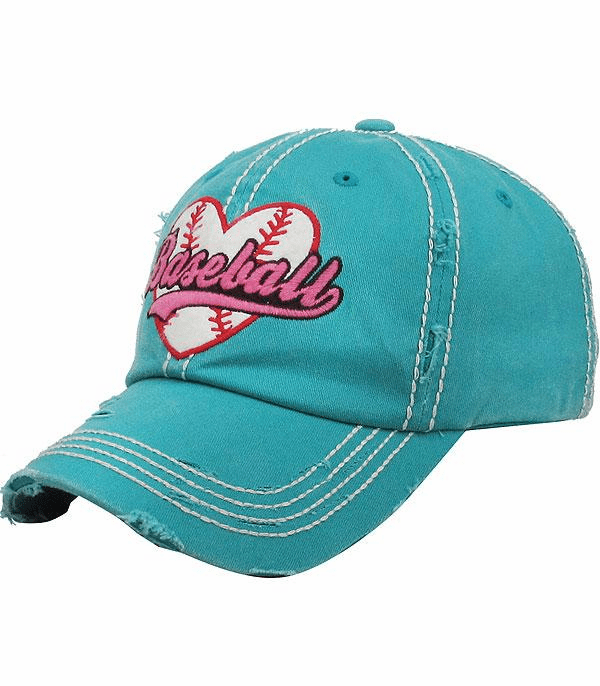 Women's Baseball Heart Hat<br>CHOOSE FROM 4 COLORS!