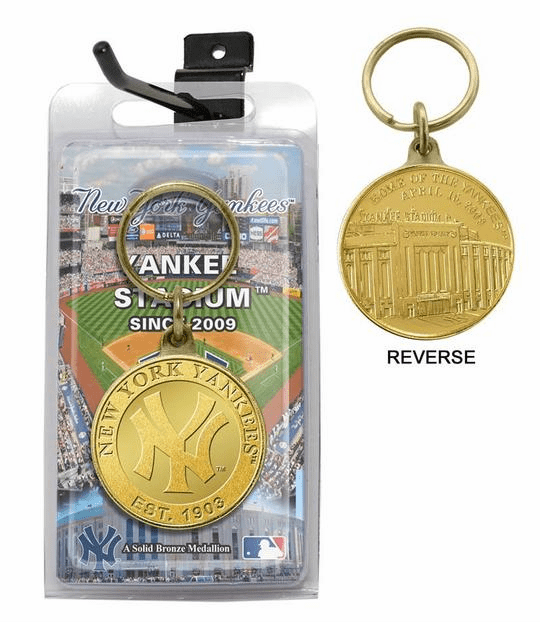 Yankee Stadium New York Yankees Bronze Coin Keychain<br>2 DESIGNS!