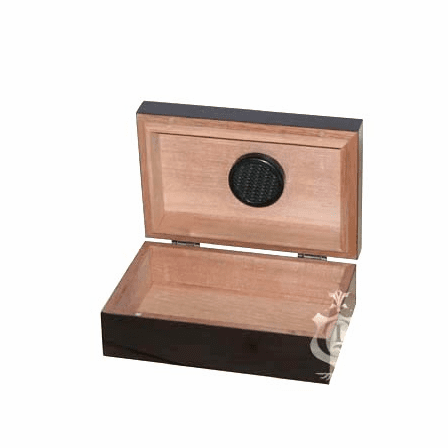 10 Cigar Mahogany Finish Travel Humidor