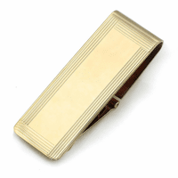 14 Karat Gold Picture Frame Engravable Money Clip