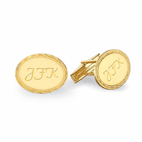 14 Karat Gold Rope Collection Engravable Cufflinks - Discontinued