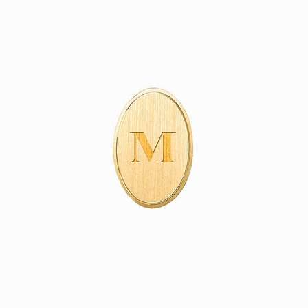 14K Gold Engraved Oval Tie Tack