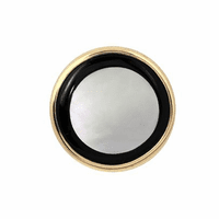 14K Gold, Onyx & Mother of Pearl Round Tie Tack