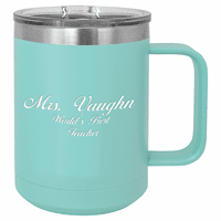 15 Ounce Teal Personalized Polar Camel Coffee Mug