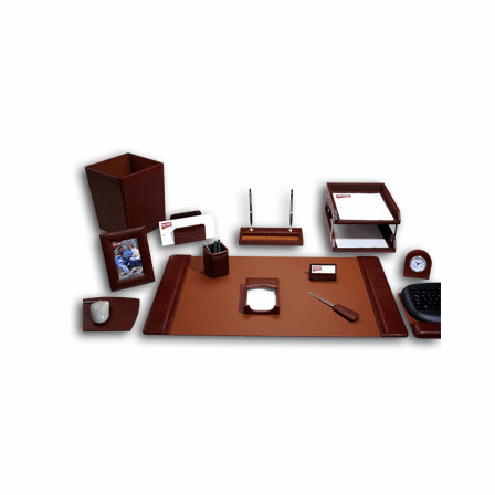 16 Piece Classic Leather Desk Set