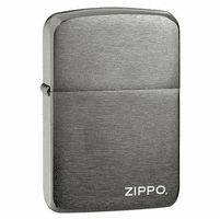 1941 Replica Black Ice with Zippo Logo Zippo Lighter - ID# 24485