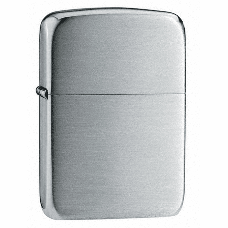 1941 Replica Hand Satin Sterling Silver Zippo Lighter - Free Engraving - ID# 24