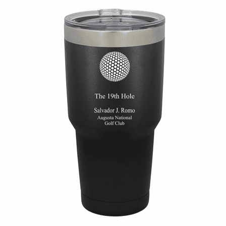 19th Hole Golf Theme Personalized 30 Ounce Tumbler