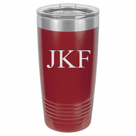 20 Ounce Maroon Polar Camel Travel Mug with Personalized Initials