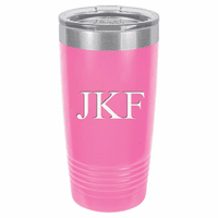 20 Ounce Pink Polar Camel Travel Mug with Personalized Initials
